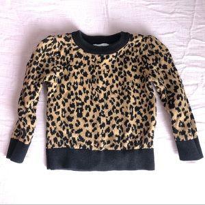 Girls leopard print sweater